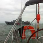 Aangehouden door de douane op zee