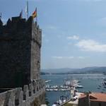 Foto's van vanaf en op het kasteel van Baiona (1)