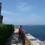 Foto's van vanaf en op het kasteel van Baiona (8)