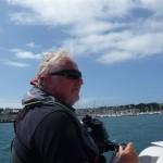 Met de bijboot terug naar onze boot (2)