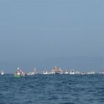 Met de bijboot varen naar de processie te water (3)