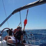 Spaanse kust voor het laatst op de achtergrond