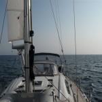 We varen de baai van Muros binnen