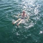 Zwemmen in de baai bij Esteiro